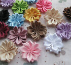 E177 Upick Double Satin Flowers Appliques Craft Wedding Party Sewing Decoration