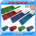 190x70CM 150GSM Adult Single Camping Sleeping Bag Blue/Green/Red with Carry Bag