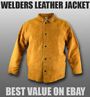 WELDERS LEATHER WELDING JACKET HEAVY DUTY KEVLAR STITCHED - M L XL XXL