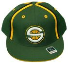 New! Seattle Supersonics- Flatbill Fitted Hat - 3D Embroidered Cap - Reebok