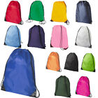5 x Premium School Drawstring Book Bag Sport Gymsac Swim PE Backpack 13 Colours