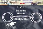Wilson Straight Carriage Driving Bit Miniature - Large Horse Sizes Style F20
