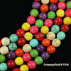 "Gorgeous Multicolor Turquoise Round Ball Loose Beads 15.5"" 4mm,6mm,8mm,10mm"