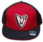 New! New Jersey Nets Flatbill Fitted 3D Embroidered Cap - Red/Navy