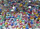 500 AB or PLAIN Flat Back DIAMANTE Crystal GEMS, Stick On - just add Glue!