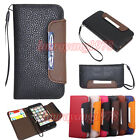 FOLIO FLIP SIDE WALLET LEATHER CASE COVER w/ CARD SLOT for APPLE IPHONE 5 5G 5TH