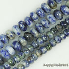 Gorgeous Natural Sodalite Gemstone Abacus Rondelle Loose Beads 15.5""