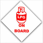 LPG Gas On Board-Sticker-Caravan,Boat,Horsebox,Locker-Safety Warning Red Sign
