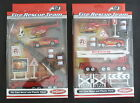 DIE CAST AND PLASTIC 10 PIECE FIRE RESCUE TEAM SET INCLUDING VEHICLES AND SIGNS