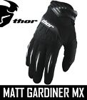 THOR SPECTRUM ADULT MENS MOTOCROSS MX GLOVES BLACK ENDURO ALL SIZES