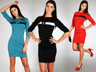 ☼ Elegance Women's Cocktail Dress with Bow ☼ Tunic Style Bodycon Size 8-14 FA61