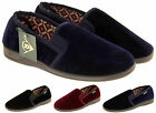 Mens DUNLOP Slippers Outdoor Sole Classic Gents Full Slipper Shoe Warm Cosy
