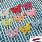 "(U Pick) Wholesale 45-450 Pcs. 1-1/8"" Felt Polka Dots Butterfly Appliques B0590"