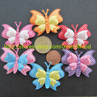 "(U Pick) Wholesale 30-300 Pcs. 1-3/4"" Padded Sparkling Butterfly Appliques B0000"
