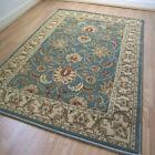Pendra Traditional Persian Look Rugs In Green & Beige - 6 Sizes Available OW45L