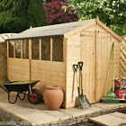 Wooden Garden Shed 10 x 6 Shiplap Double Door Tongue Groove Apex Roof Shed 10x6