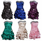 New Puff Ball Short Cocktail Prom Diamante Going Out Party Evening Dress 8 -16