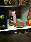 NIB John Deere YOUTH PINK Pull On Leather Boots FREE SHIPPING