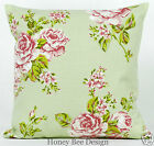 Clarke and Clarke Vintage chic English Rose Sage Green cushion cover 16 inch zip
