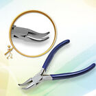 """stone setting Porng closing pliers Bent Nose grooved Jaws Jewellery tools 4.5"""""""