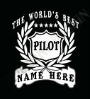 Pilot Airline T-Shirt Personalised Add Name Great Gift Bespoke Customised Flying