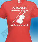 Violin Player T-Shirt Violinist Personalised Customised Funny Great Gift Idea