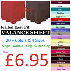 Plain Dyed Fitted Valance Sheets Poly Cotton Bed Sheet Single Double King S King