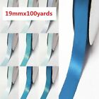 "Double Faced Satin Ribbon 3/4"" /19mm. 100 Yards/ Roll ,Blue s #352 to #374"