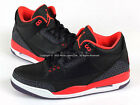 Nike Air Jordan 3 III Retro Black/Bright Crimson-Cnyn Purple 2013 136064-005 AJ3