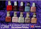 L'OREAL Colour Endure Jet Set Shock Resist nail polish varnish RARE shades