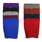 Ladies Skirt Women Ribbed Panel Mini Shorts Bodycon Stretch Zip Party Casual New