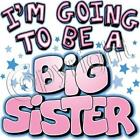 I'm Going To Be A Big Sister White Lap Shoulder Creeper Newborn To 24 Months