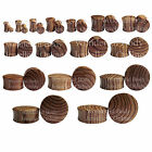 "1 x Zebra Wood Double Flared Ear Plug Choice of Size/Gauge 8G - 1 3/16"" 3mm-30mm"