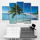 Palm Tree Over Pure Water Quality Canvas Art Prints Choice Of Clock Huge Sizes