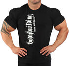 BODYBUILDING T-SHIRT WORKOUT  GYM CLOTHING  BLACK