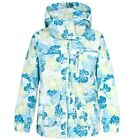 TRESPASS KIDS WATERPROOF ISAKU RAIN JACKET (SOFTLIME FLOWER PRINT) GIRLS 3-10yrs