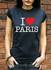 I Love Paris Tshirt Heart Fashion France French T-Shirt Mens Womens Kids J0229