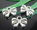 42/120Pcs Tibetan Silver Bowknot Charms 12x10mm
