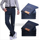 Men's thickening jeans warm pants Fashion cotton trousers straight leg casual