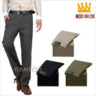 Men's Spring Autumn casual trousers cotton western-style Straight leg pants