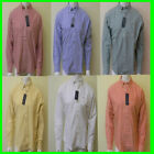 Tommy Hilfiger Casual Mens Buttondown Shirt Solid Classic Fit L/s Th Logo V045