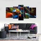 Abstract Modern Art Huge Size Multiple Canvas Print Set 150x90cm Choice Of Clock