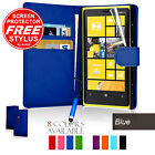 Flip Wallet Leather Case Cover For Nokia Lumia 920 Free Screen Protector&Stylus