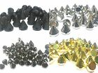 100pcs 6mm  Acrylic CONE SPIKE STUDS sew on, stitch on, stick on Embellishments