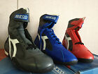 NIB Sparco Daytona Leather Driving Shoes Gray Sizes 41 / 42 / 45 / 46 / 47 Nomex