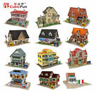 3D puzzle DIY toy paper model birthday gift world architectural characteristics
