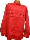 Wrangler   Long Sleeve     Red     Two Pocket     Work Shirt