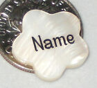 Custom Engraved Flower Shell Beads - Mother of Pearl - Personalized - 8 Colors!