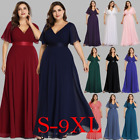 Ladies Long Maxi Bridesmaid Evening Party Formal Prom Casual Dresses Gown 09890
