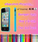 NEW BUY STYLISH BUMPER GUARD CASE COVER FOR APPLE IPHONE 4 4S BUY 2 GET 3 OFFER